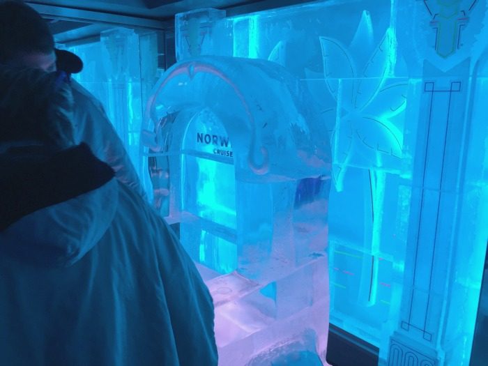 Ice Bar on the Norwegian Getaway