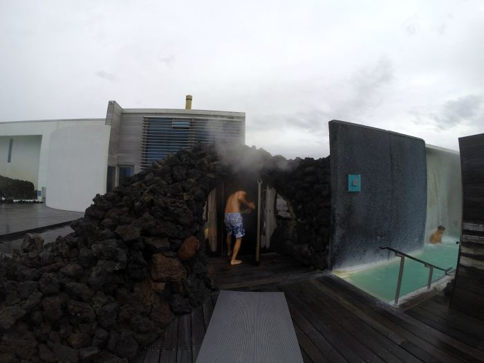 Steam room in a cave in the Blue Lagoon